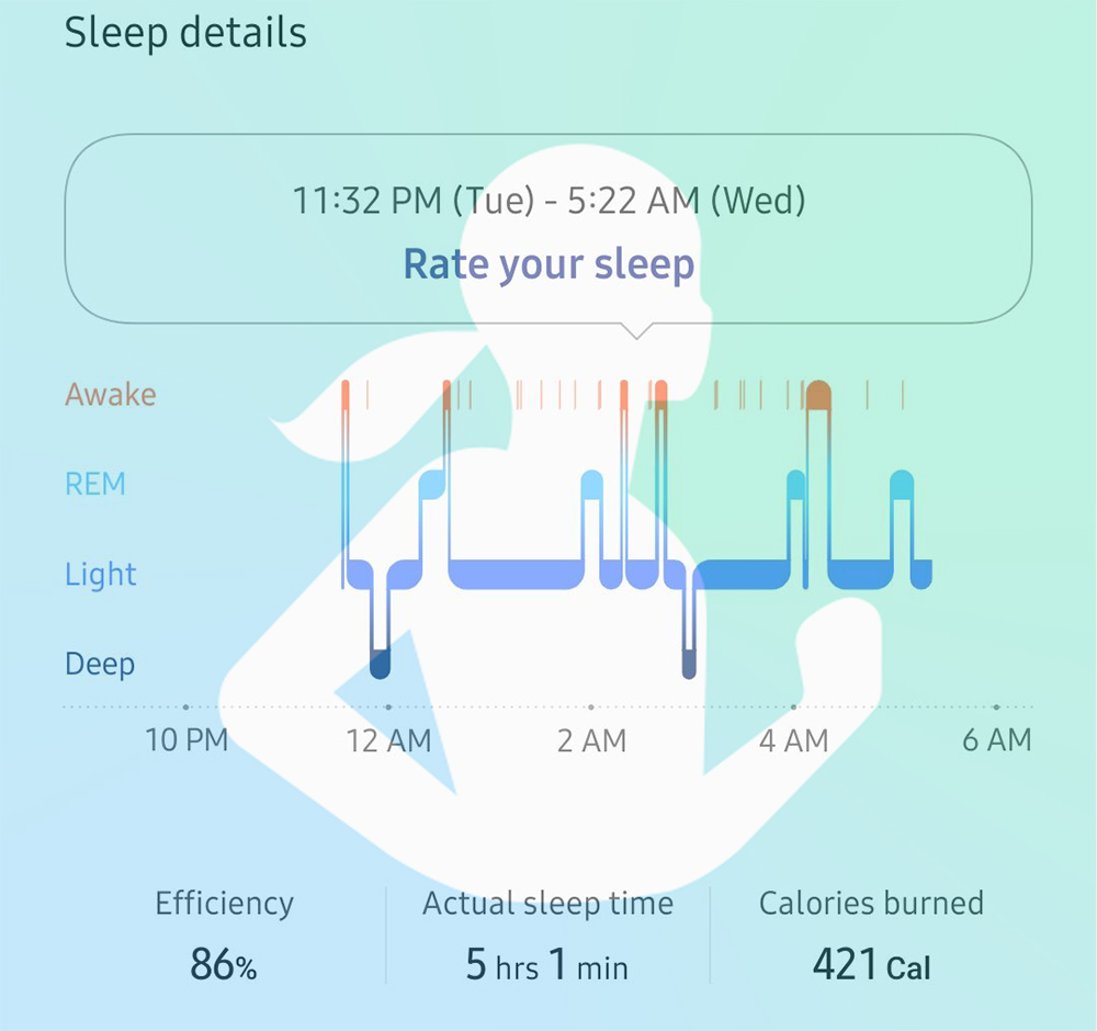 Samsung Health Sleep Tracking