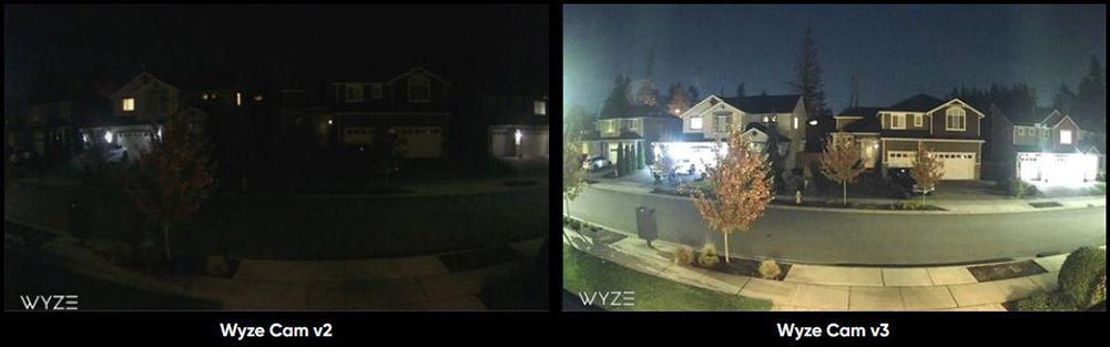 WYZE v2_v3_night vision comparison