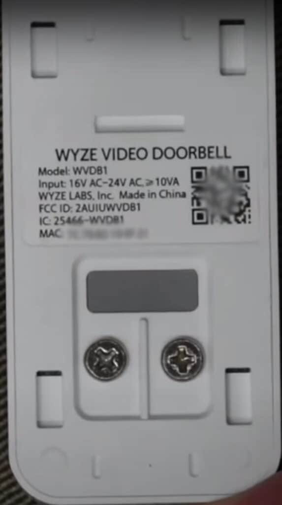 Wyze Doorbell Back