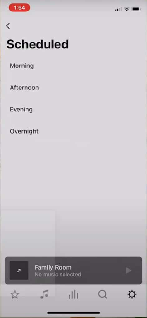 Sonos S2 App Scheduled