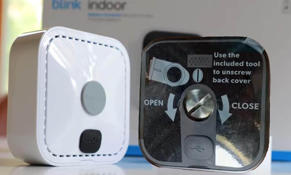 Backside of Blink Indoor and Outdoor